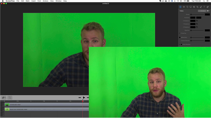 How to Create a Green Screen Video with the ScreenFlow Chroma Key Tool